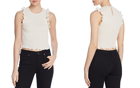 LIKELY Thomes Ruffled Smocked Cropped Top - Bloomingdale's_2