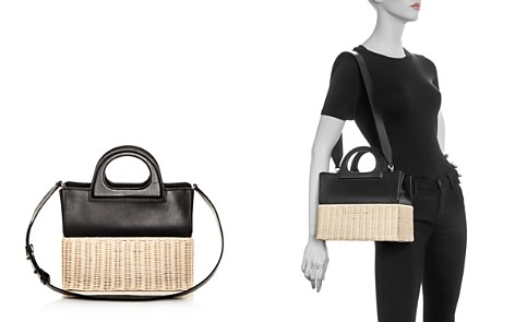 Max Mara Leather & Wicker Tote - Bloomingdale's_2