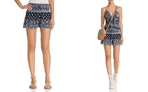 AQUA Batik Print Smocked Shorts - 100% Exclusive - Bloomingdale's_2