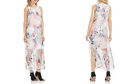 VINCE CAMUTO Diffused Blooms Illusion Maxi Dress - Bloomingdale's_2