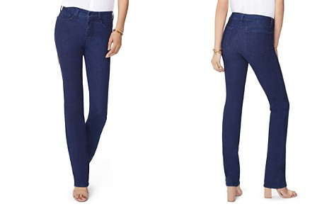 NYDJ Petites Marilyn Straight Jeans in Rinse - Bloomingdale's_2