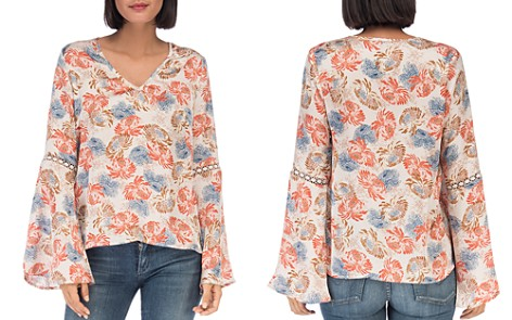 B Collection by Bobeau Jamyee Boho Floral Print Top - Bloomingdale's_2