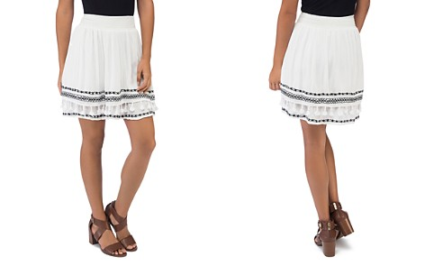 B Collection by Bobeau Monroe Embroidered A-Line Skirt - Bloomingdale's_2