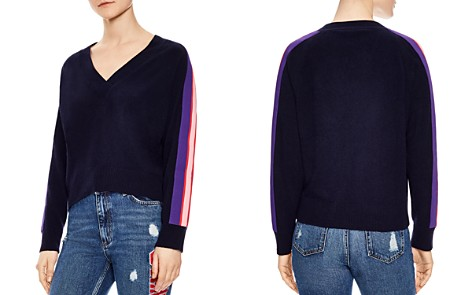 Sandro Artic Striped-Sleeve Sweater - Bloomingdale's_2