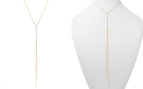 """Meira T 14K White & Yellow Gold Diamond Bezel Y Necklace, 16"""" - Bloomingdale's_2"""