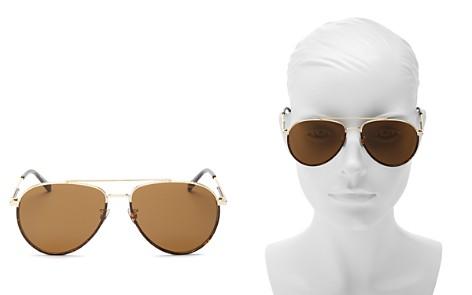 Bottega Veneta Brow Bar Aviator Sunglasses, 60mm - Bloomingdale's_2