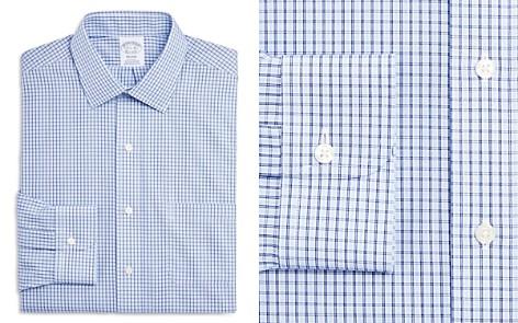 Brooks Brothers Double Windowpane Regular Fit Dress Shirt - Bloomingdale's_2