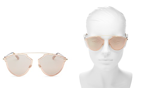 Dior Sorealrise Mirrored Brow Bar Round Sunglasses, 58mm - Bloomingdale's_2