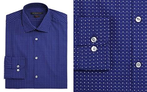 John Varvatos Star USA Micro Diamond Dot Slim Fit Dress Shirt - Bloomingdale's_2