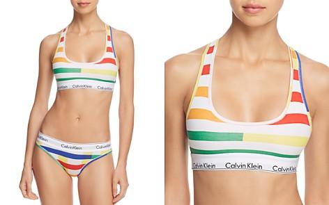 Calvin Klein Modern Cotton Impulsive Racerback Wireless Bralette & Bikini - Bloomingdale's_2
