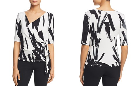Weekend Max Mara Effluvi Brushstroke Print Side-Tie Top - Bloomingdale's_2