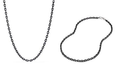 "David Yurman Chain Link Narrow Necklace with Black Titanium, 26"" - Bloomingdale's_2"