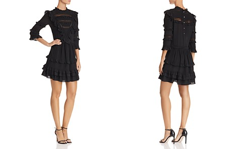Rebecca Taylor Lace-Inset Silk Dress - Bloomingdale's_2
