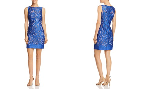 Aidan Mattox Satin Lace Cocktail Dress - 100% Exclusive - Bloomingdale's_2