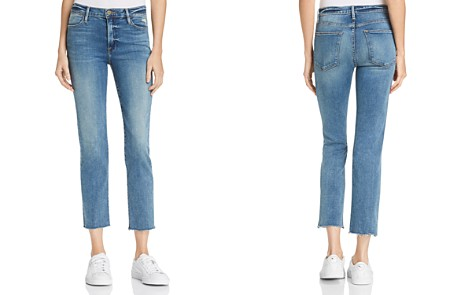 FRAME Le High Raw Edge Straight Jeans in Roxton - Bloomingdale's_2