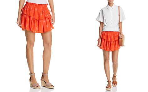 Karina Grimaldi Habi Tiered Printed Mini Skirt - Bloomingdale's_2