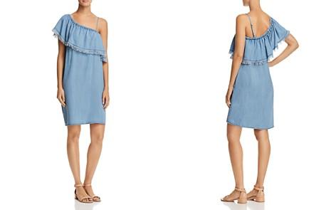 AQUA Ruffled One-Shoulder Chambray Dress - 100% Exclusive - Bloomingdale's_2