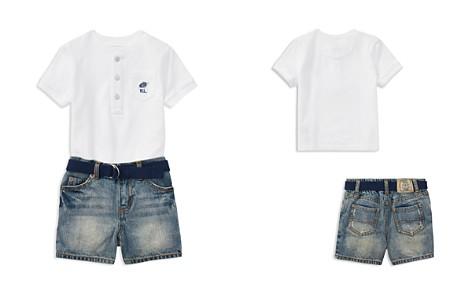 Ralph Lauren Boys' Henley Tee, Belt & Denim Shorts Set - Baby - Bloomingdale's_2