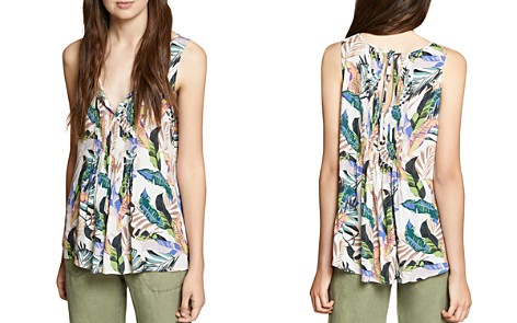 Sanctuary Pleated Tropical-Print Top - Bloomingdale's_2