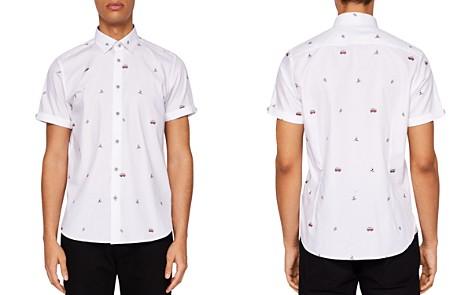 Ted Baker Vancoop Campervan Fil Coupe Regular Fit Button-Down Shirt - Bloomingdale's_2