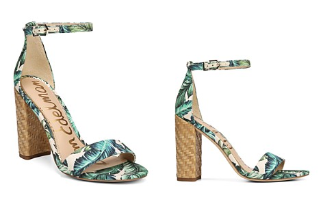 Sam Edelman Women's Yaro Palm Print Block Heel Sandals - Bloomingdale's_2
