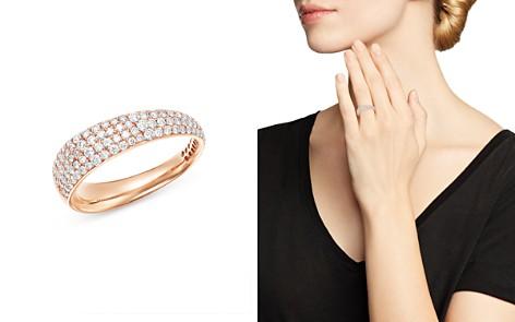 Roberto Coin 18K Rose Gold Scalare Pavé Diamond Ring - Bloomingdale's_2
