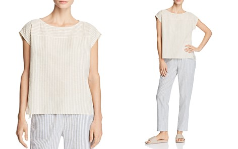 Eileen Fisher Striped Cap-Sleeve Top - Bloomingdale's_2