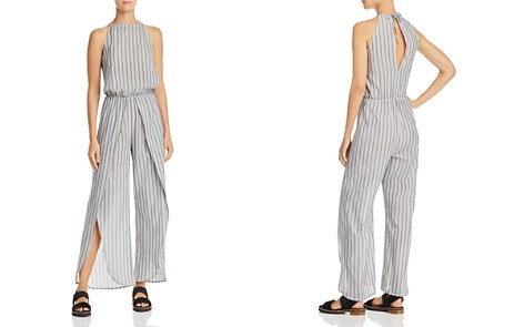 AQUA Striped Tulip-Hem Jumpsuit - 100% Exclusive - Bloomingdale's_2