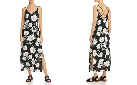 AQUA Floral Print Crisscross Maxi Dress - 100% Exclusive - Bloomingdale's_2