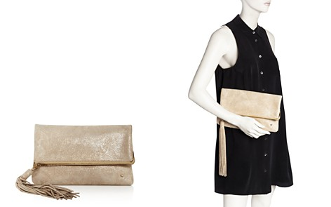 HALSTON HERITAGE Christie Leather Foldover Clutch - Bloomingdale's_2