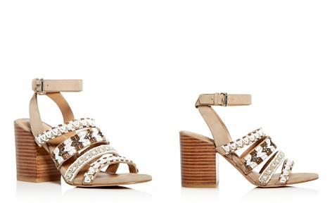 Rebecca Minkoff Women's Caroline Beaded Suede Block Heel Sandals - Bloomingdale's_2