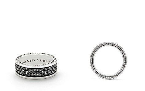 David Yurman Streamline Three-Row Band Ring with Black Diamonds - Bloomingdale's_2
