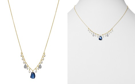 """Meira T 14K White & Yellow Gold Sapphire, Cultured Freshwater Pearl & Diamond Dangle Necklace, 16"""" - Bloomingdale's_2"""