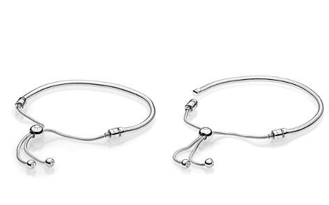 PANDORA Sterling Silver & Cubic Zirconia Signature Sliding Bolo Bracelet - Bloomingdale's_2