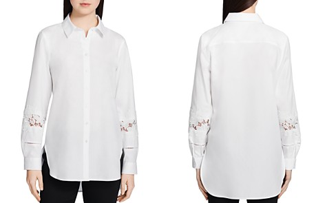 Calvin Klein Lace-Sleeve Shirt - Bloomingdale's_2