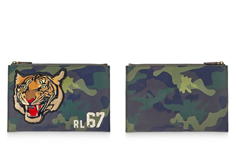 Polo Ralph Lauren Tiger Camouflage Leather Pouch - Bloomingdale's_2