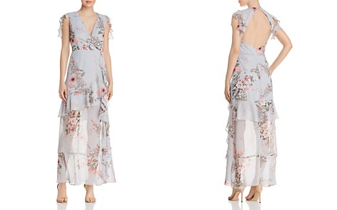 AQUA Ruffled Floral Gown - 100% Exclusive - Bloomingdale's_2
