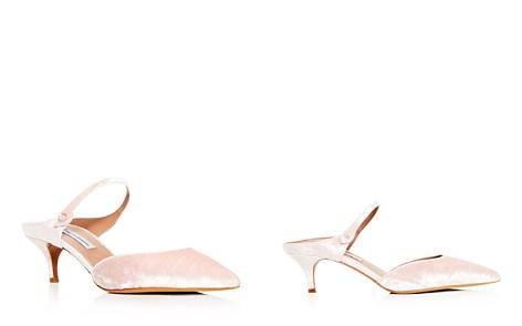Tabitha Simmons Women's Liberty Velvet Pointed Toe Kitten Heel Mules - Bloomingdale's_2