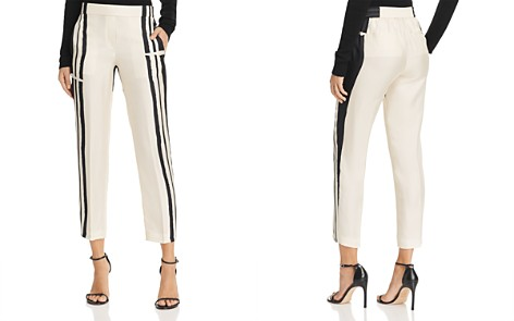 Theory Silk Stripe Straight Ankle Pants - Bloomingdale's_2