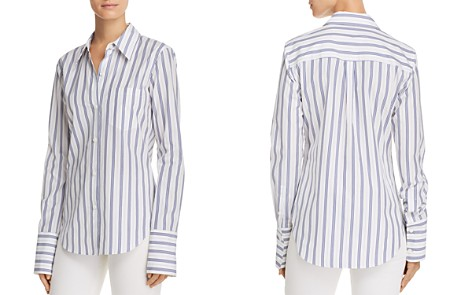 Theory Striped Button Down Shirt - Bloomingdale's_2