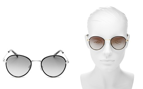 Le Specs Zephyr Deux Mirrored Round Sunglasses, 52mm - Bloomingdale's_2