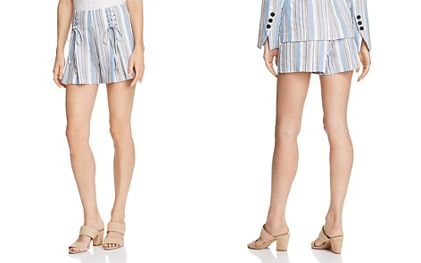 AQUA Lace-Up Striped Shorts - 100% Exclusive - Bloomingdale's_2