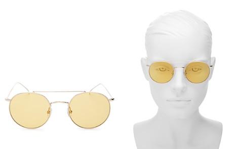 Illesteva Women's Allen Brow Bar Round Sunglasses, 50mm - Bloomingdale's_2