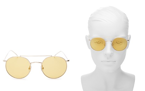 Illesteva Allen Brow Bar Round Sunglasses, 50mm - Bloomingdale's_2