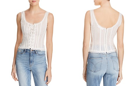 ASTR the Label Macie Lace-Up Eyelet Top - Bloomingdale's_2