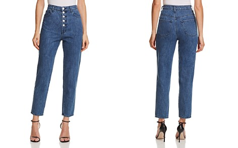 J Brand Heather Button-Fly Straight Jeans in Electrify - Bloomingdale's_2