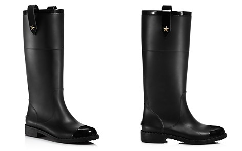 Jimmy Choo Edith Rubber & Leather Tall Boots - Bloomingdale's_2