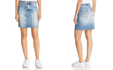 AG Erin Denim Skirt in 16 Years Indigo Deluge Destructed - Bloomingdale's_2