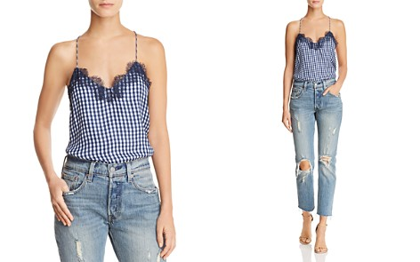 CAMI NYC Gingham Silk Camisole Top - Bloomingdale's_2