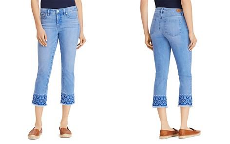 Lauren Ralph Lauren Embroidered Cropped Skinny Jeans in Blue - Bloomingdale's_2